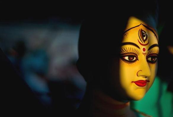 为保护积极的能量女神杜尔迦DeviDurga冥想108遍咒语