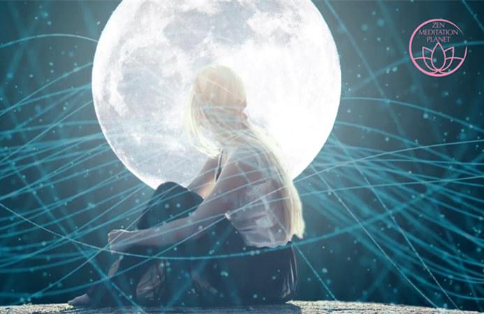 在处女座 – 月球的疗愈能量,深度睡眠的满月,冥想音乐
