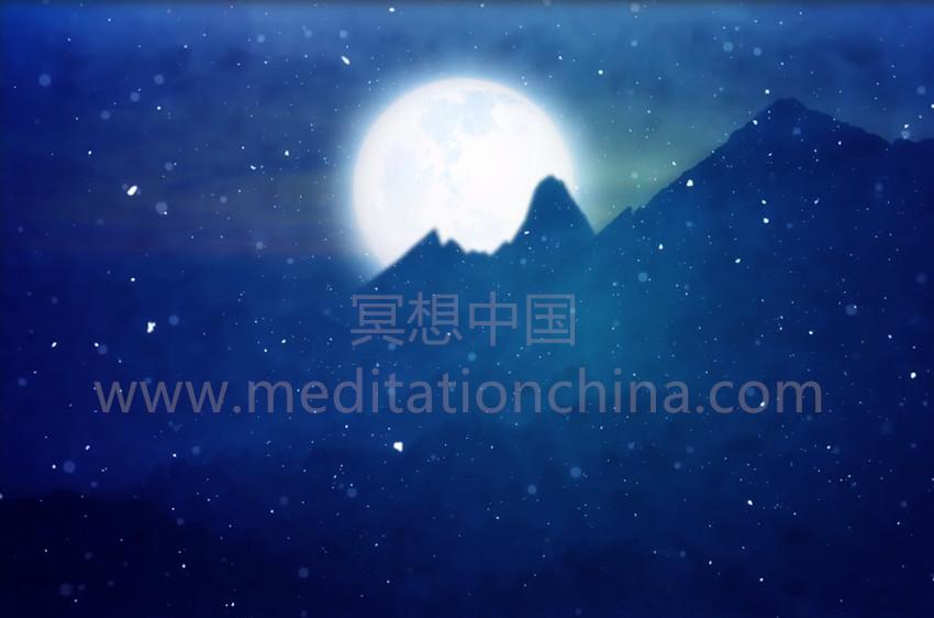 寒冷的月亮-12月的满月冥想-雪域圣诞禅宗冥想曲
