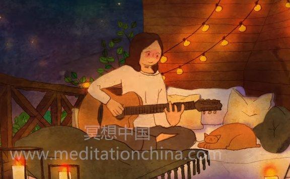 [平静放松抚慰]吉他冥想-独身者