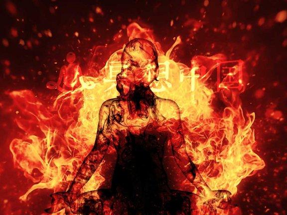 冥想中国:极为强大的火冥想平衡太阳神经丛脉轮